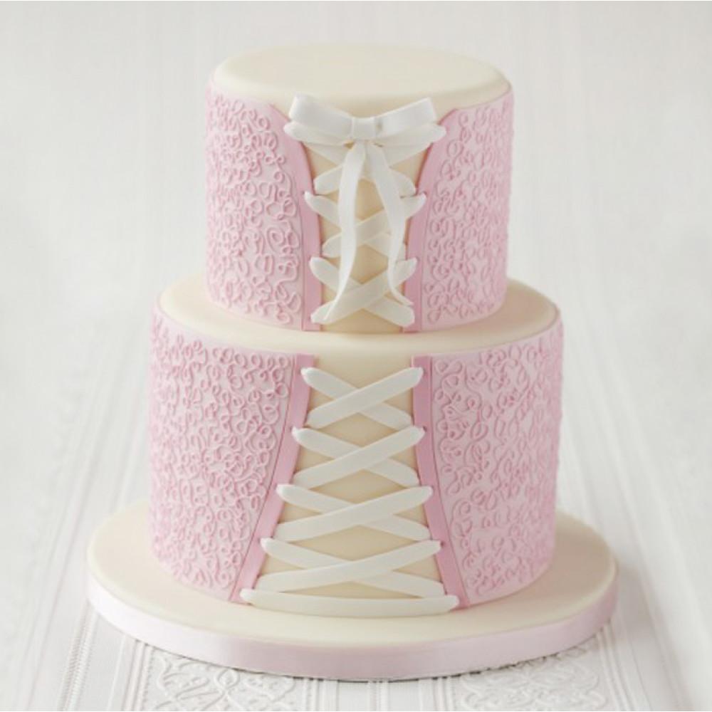 Торт свадебный корсет