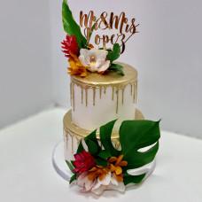 Свадебный торт топпер с инициалами