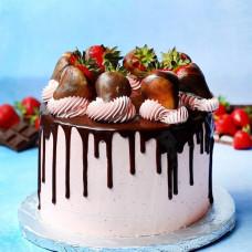 Клубничный торт на свадьбу