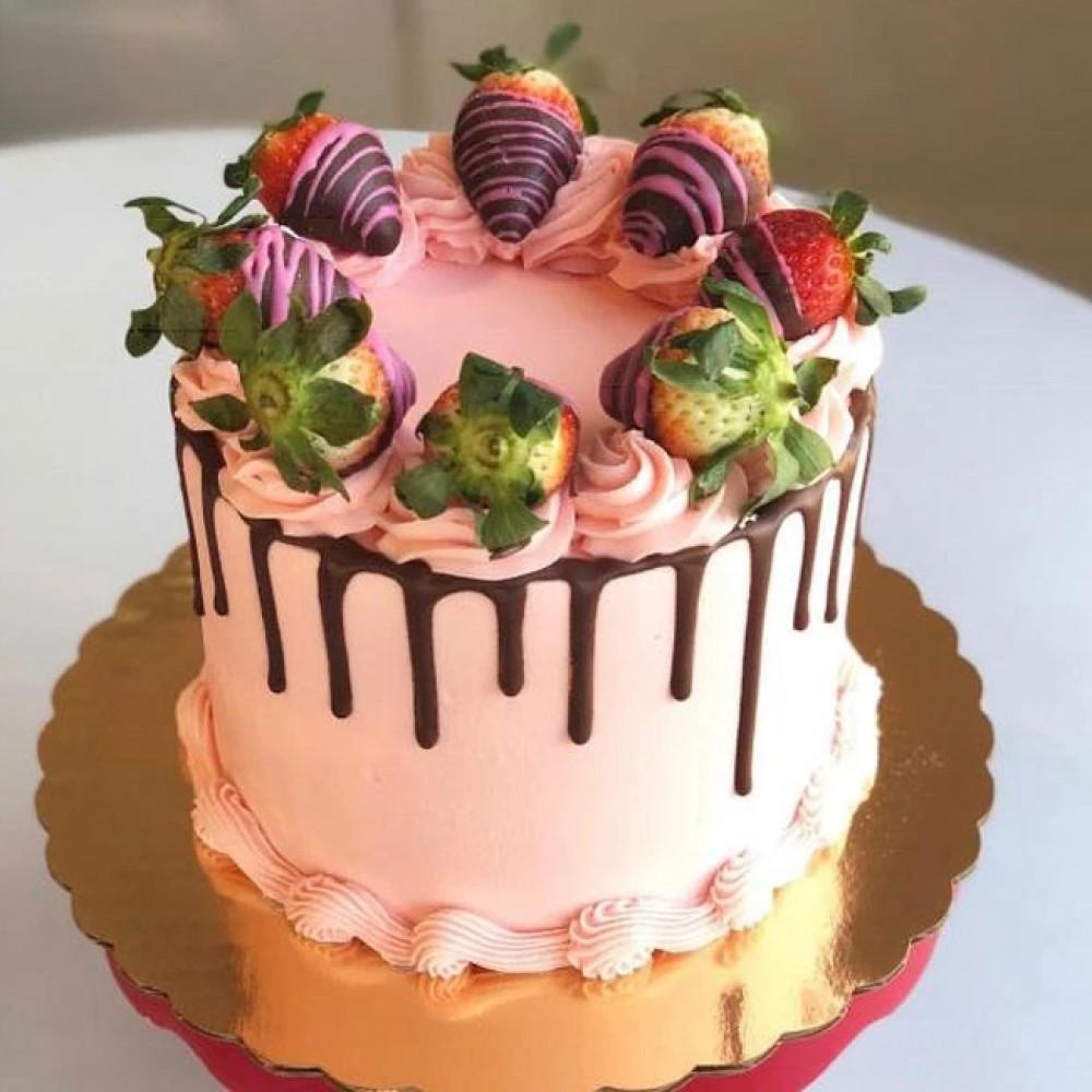 Торт Клубничная свадьба