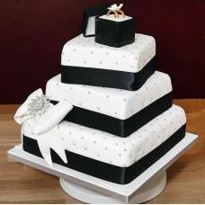 Свадебный торт с обручальными кольцами