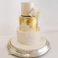Торт свадебный кружева