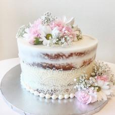 Торт с кружевом без мастики