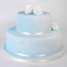 Торт с кружевом из айсинга