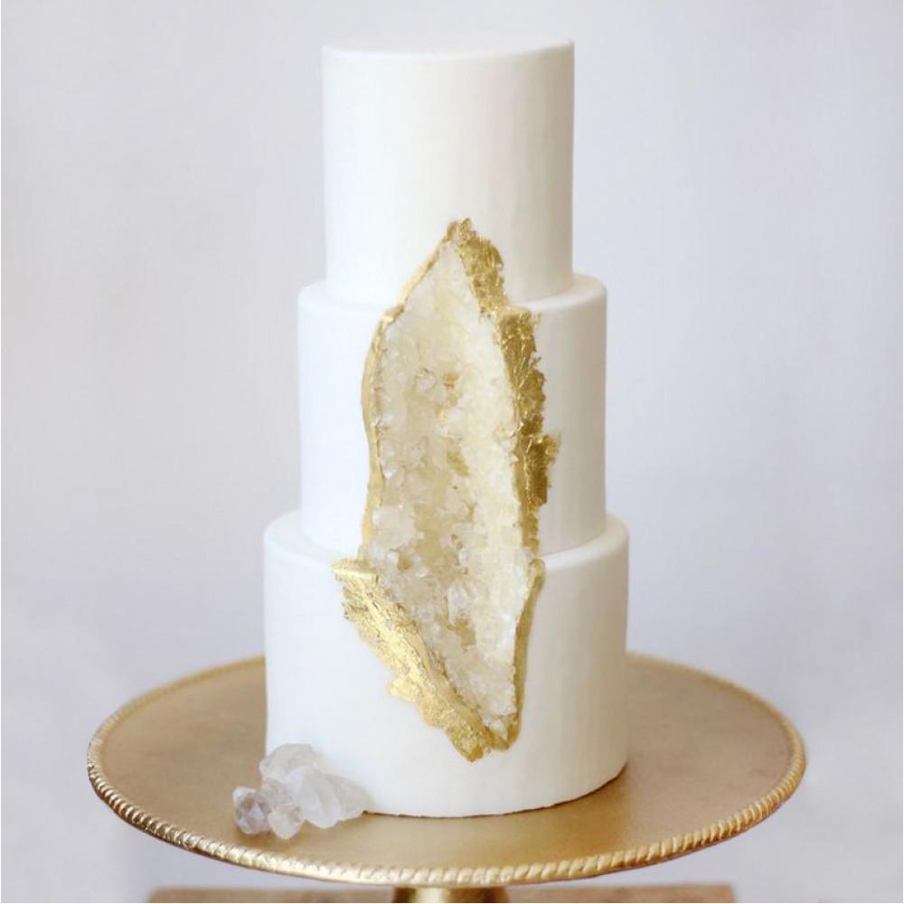 Торт в виде минерала аметиста