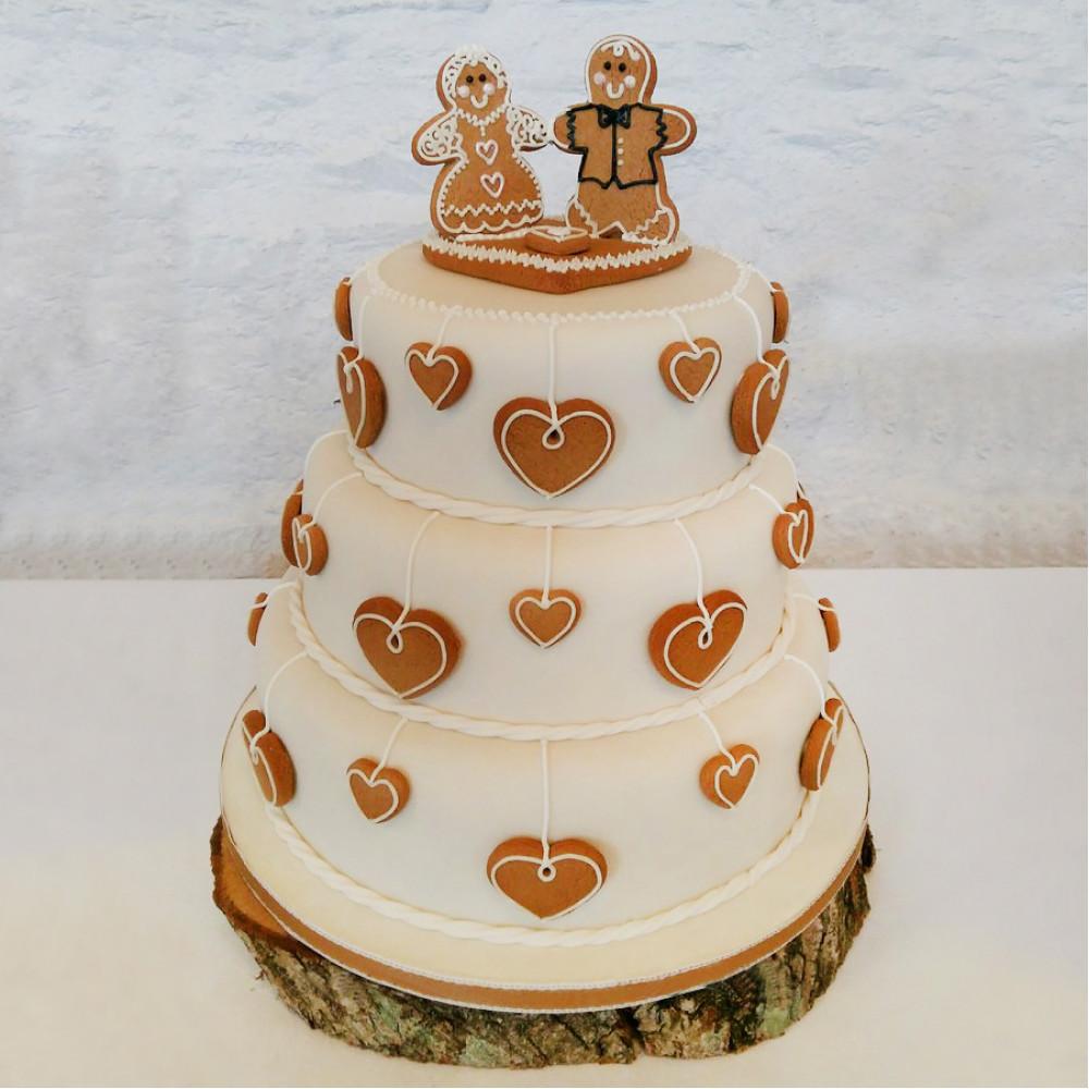 Свадебный торт с имбирными пряниками