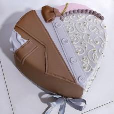Торт свадебный сердце Жених и невеста