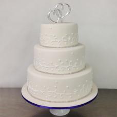 Свадебный торт топпер сердца