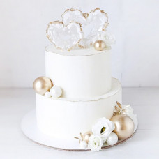 Свадебный торт два сердца