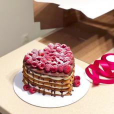 Торт свадебный без мастики сердце