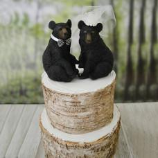 Свадебный торт с медведями