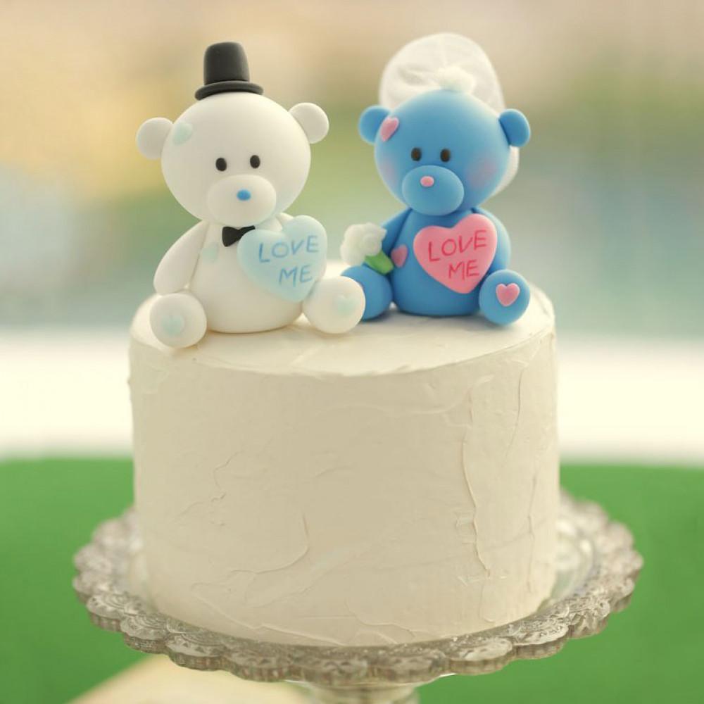 Свадебный торт с медвежатами