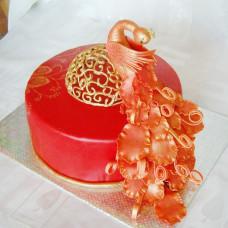 Свадебный торт с Жар-птицей