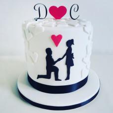 Торт с силуэтами молодоженов