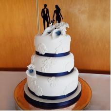 Торт с силуэтом семьи