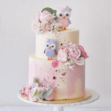 Свадебный торт с совушками
