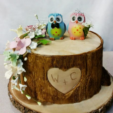 Свадебный торт с совами на 5-ую годовщину