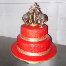 Свадебный торт со слонами