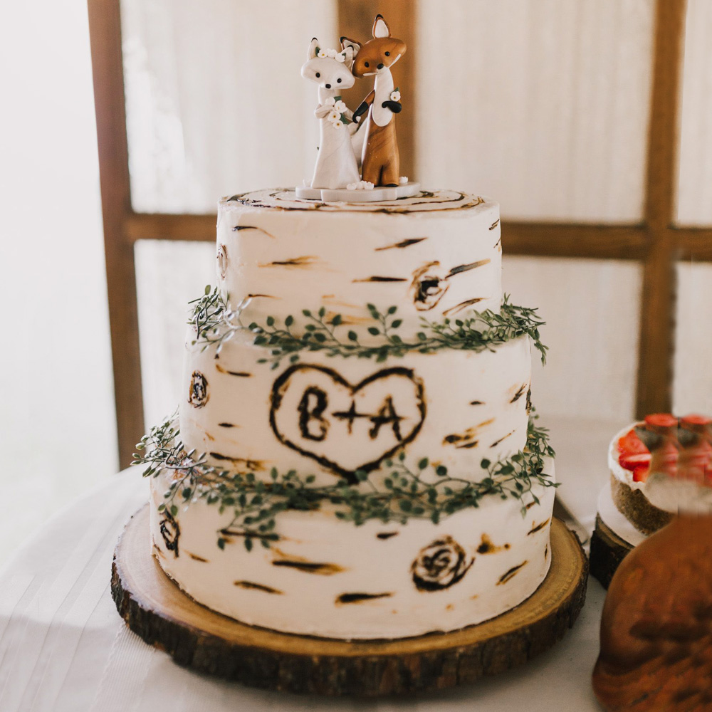 Свадебный торт с лисичками