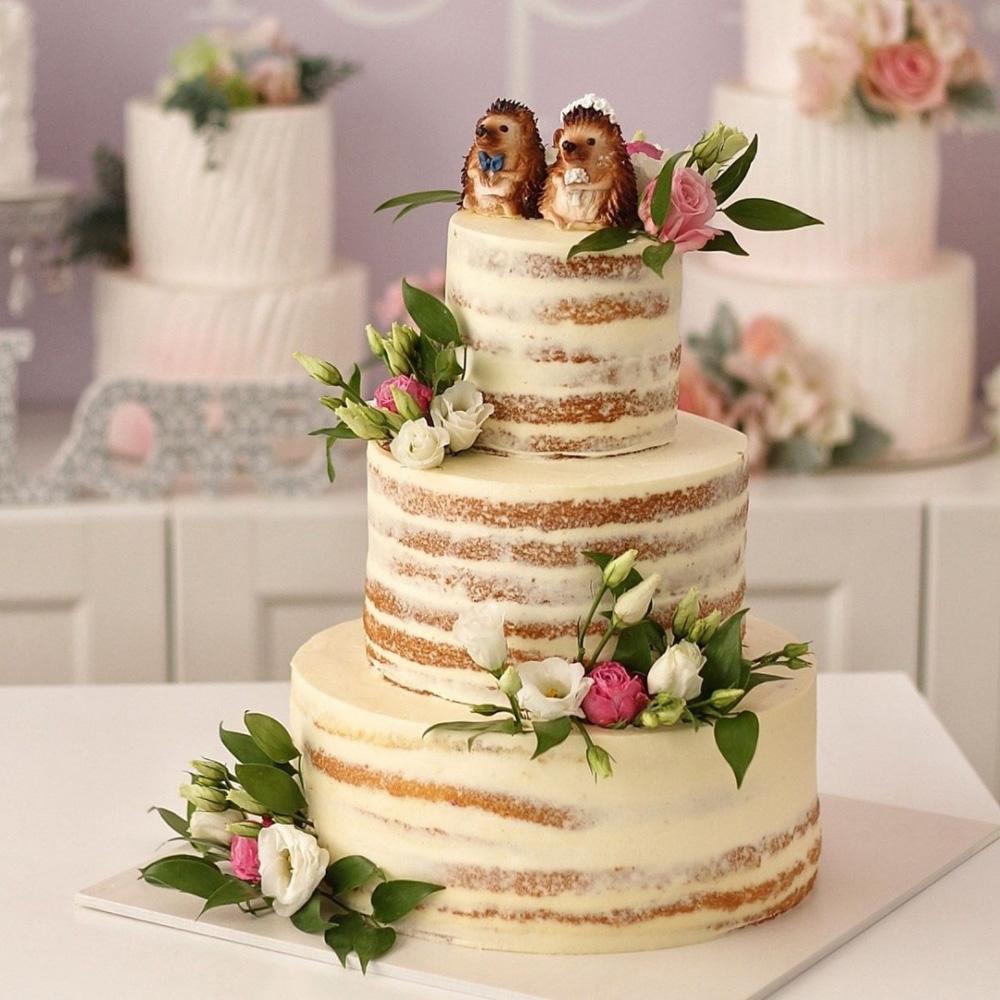 Свадебный торт с ежиками