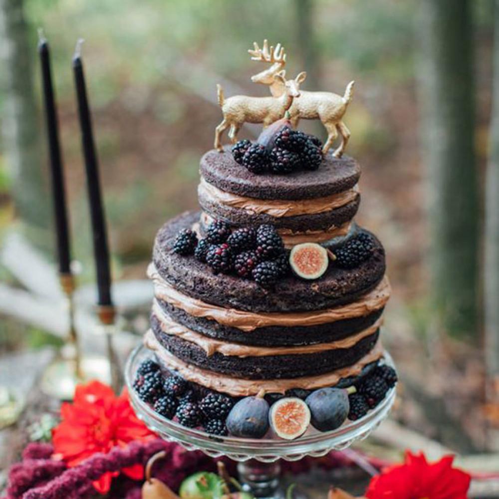 Свадебный торт с оленями