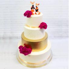 Торт с лисичками на свадьбу