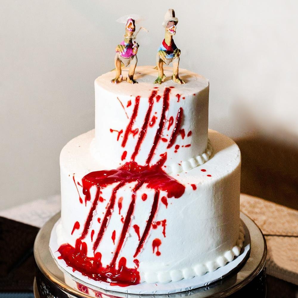 Свадебный торт с динозаврами