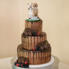 Свадебный торт с собаками