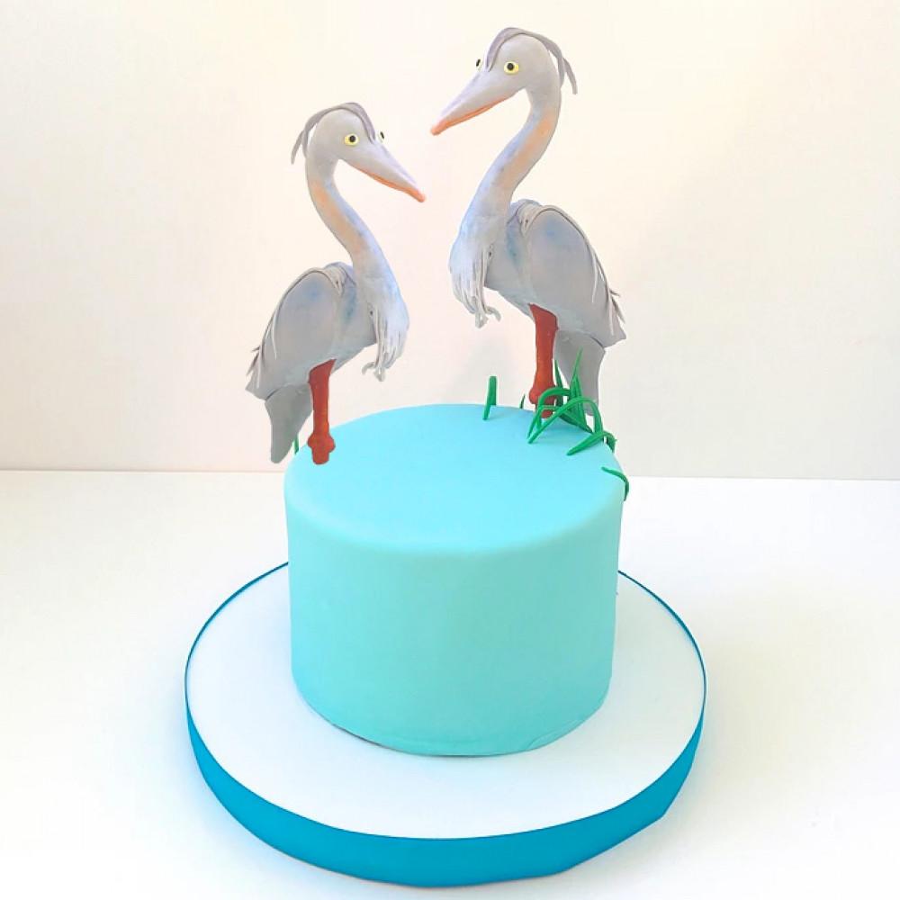 Свадебный торт с цаплями