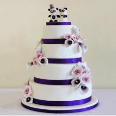 Торт с пандами на свадьбу