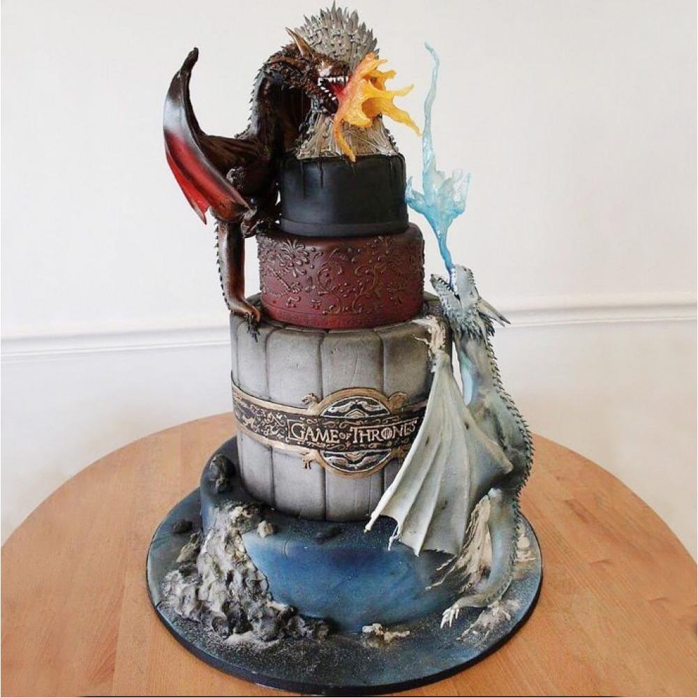 Свадебный торт с драконами из «Игра престолов»