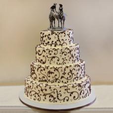 Свадебный торт ковбои на лошадях