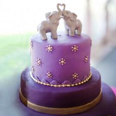 Торт со слониками на свадьбу