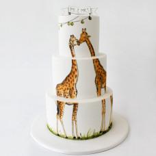 Свадебный торт с жирафами