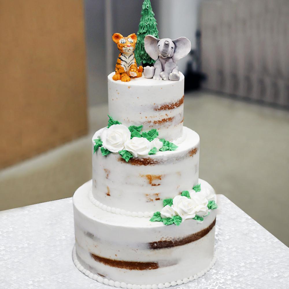 Свадебный торт со слоном и тигрицей