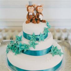 Свадебный торт с обезьянками