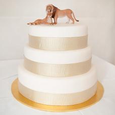 Свадебный торт со львами