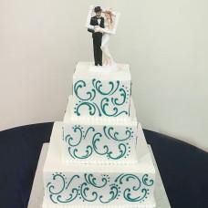 Торт с топпером жених и невеста