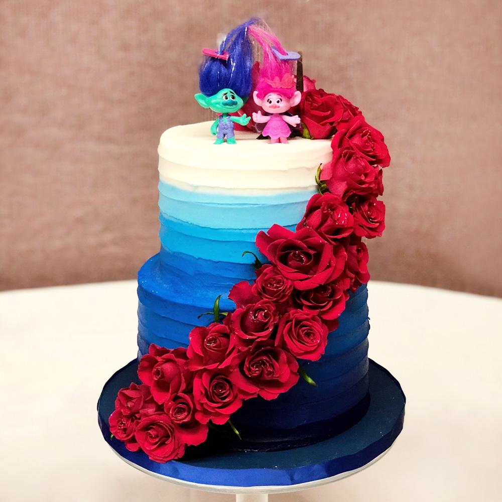 Свадебный торт с троллями