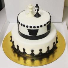 Свадебный торт декор шахматы