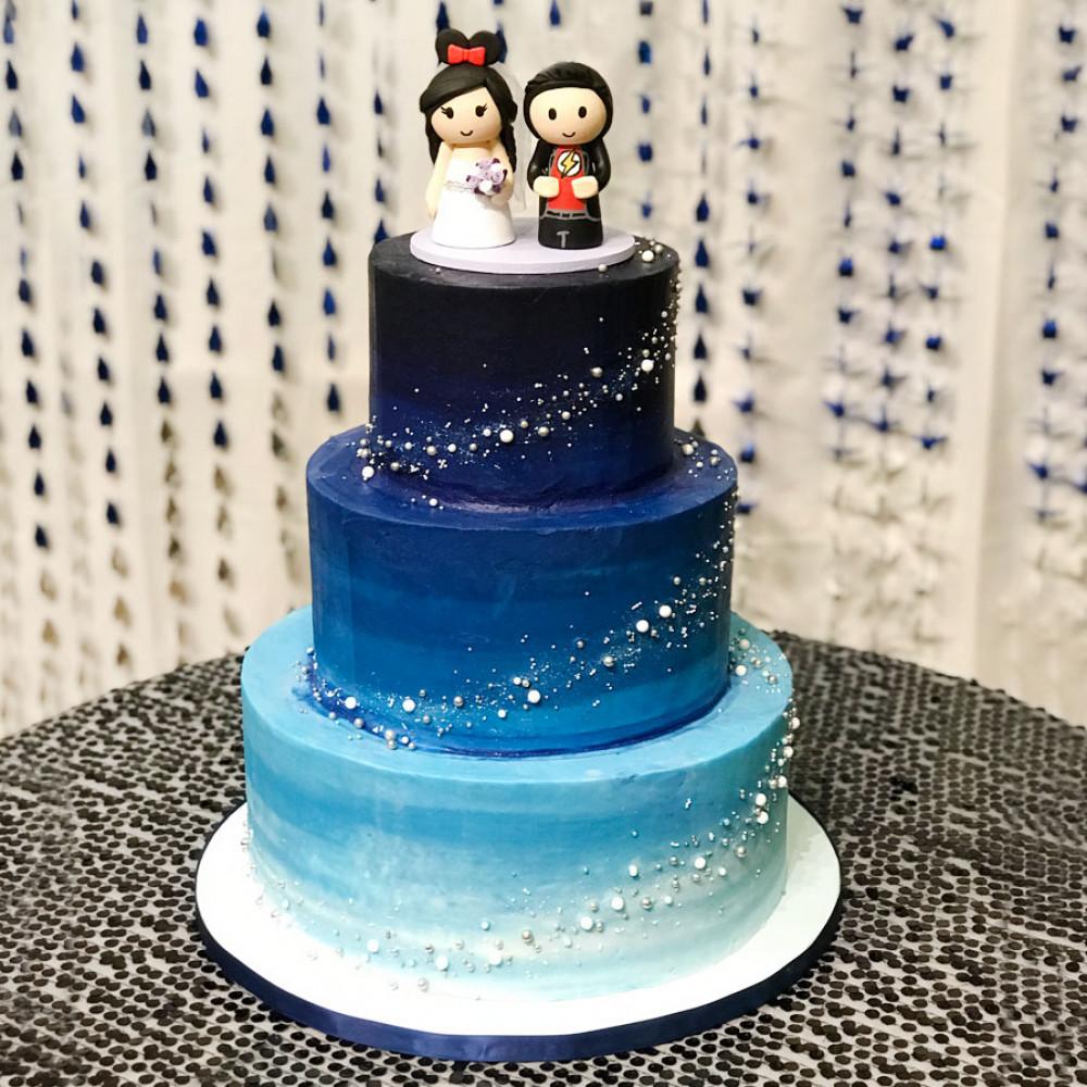 Свадебный торт на тему космоса