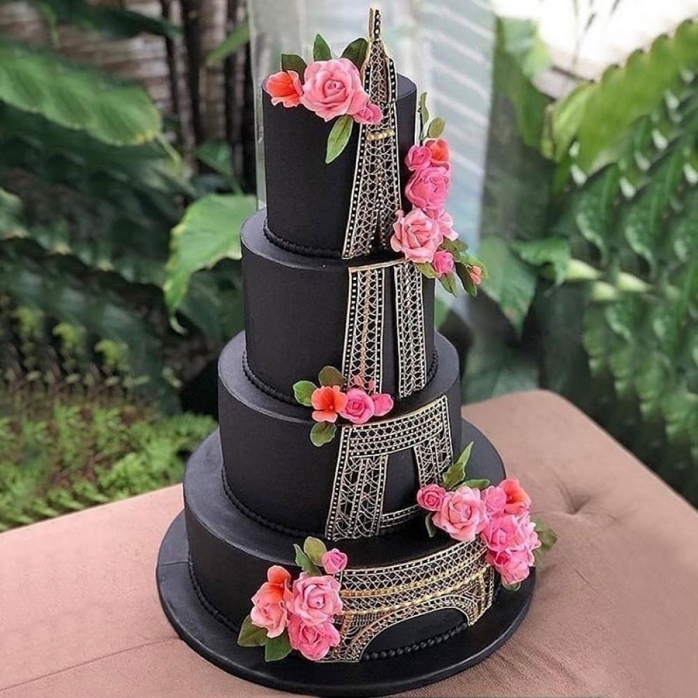 Свадебный торт в Парижском стиле