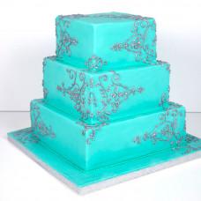 Свадебный торт Аквамарин