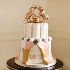 Свадебный торт в стиле цирк