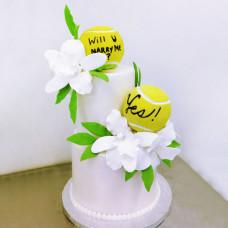 Свадебный торт на тему спорта