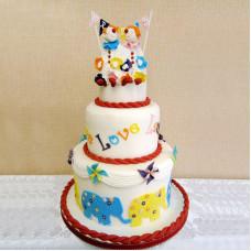 Свадебный торт с клоунами