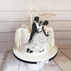 Танцевальный торт на 25 лет семейной жизни