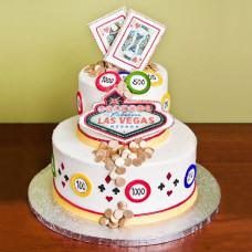 Свадебный торт в стиле казино