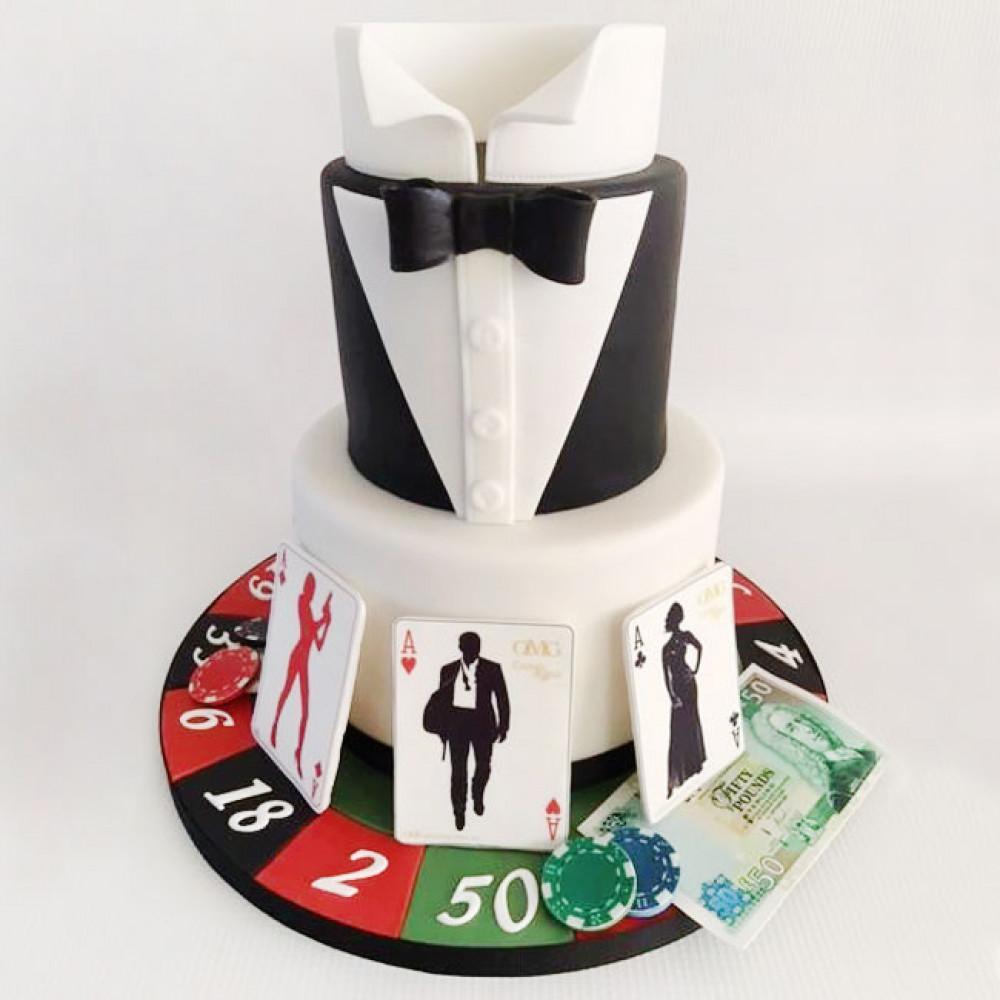 Свадебный торт в гангстерском стиле