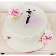 Свадебный торт в танцевальном стиле